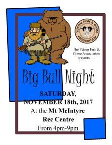 Big Bull Night – November 18th – 4:00 – 9:00 PM – Mt. Mac Rec Centre