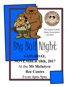Big Bull Night – November 18th – 4:00 – 9:00 PM – Mt. Mac Rec Centre