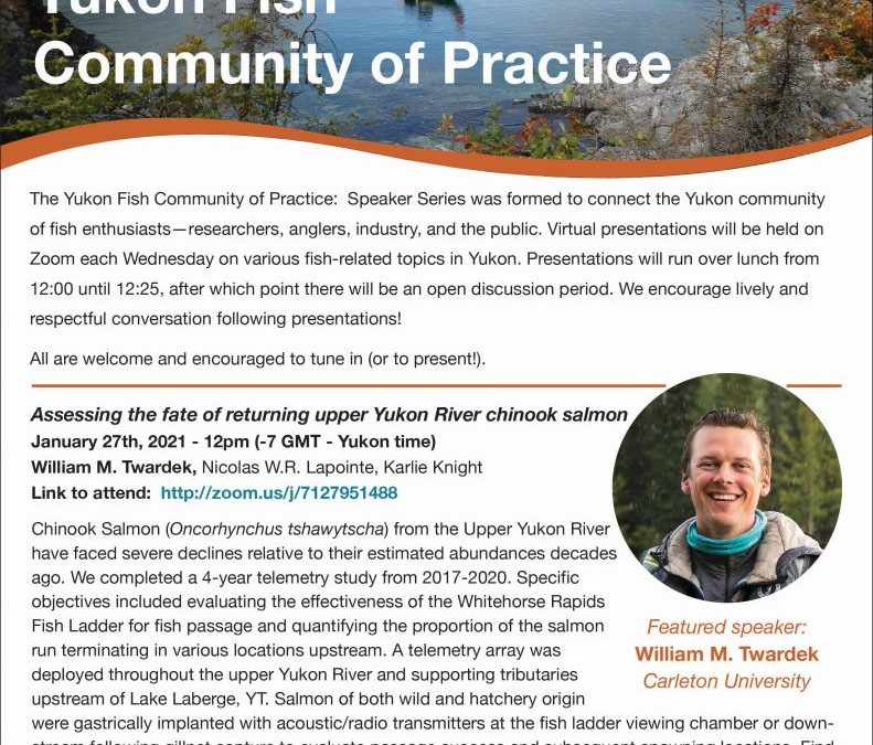 The Yukon Fish Community of Practice: Speaker Series.